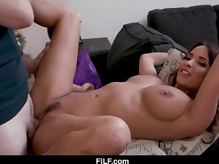 StepMom Anissa Kate Chritsmas Poke With StepSon - FILF