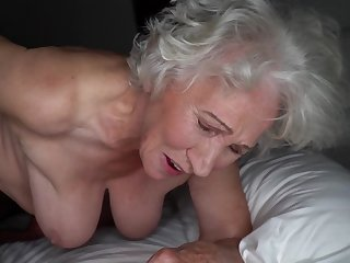 Grey-haired cunt be incumbent on fat granny gets pounded unconnected with young stud