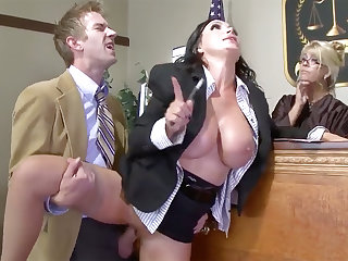 Take charge lawyer belle gets her pussy plowed in court