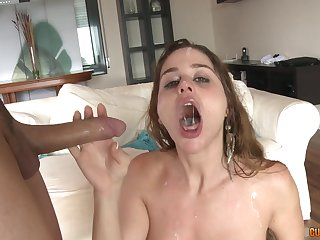 Blonde slut Cathy Heaven loves two cocks on one occasion and cum