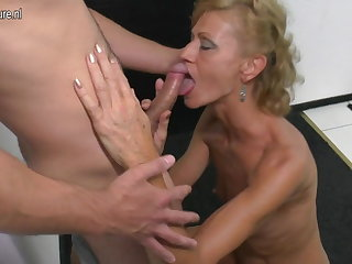 Son licks and fucks hot mature not his nourisher