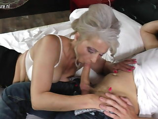 Granny banged wits lucky young urchin