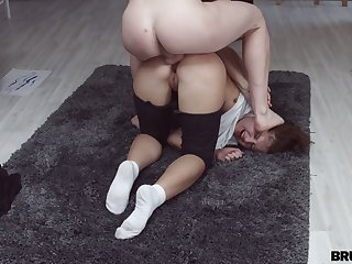 Quite bootyful ordinary bitch Lappi Sy gets analfucked doggy upstairs the floor