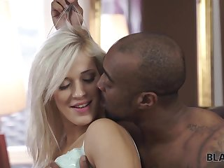 Amazing interracial porn be advisable for hot skinny blonde and black dude