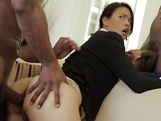 Hot Asian Milf relative to BBC Threesome