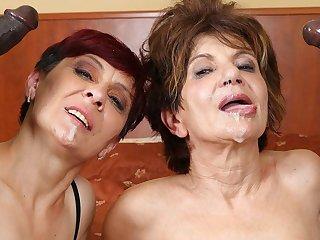 Grannies Hardcore Fucked Interracial Porn with Elderly Battalion sex