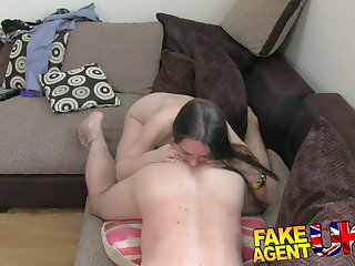 FakeAgentUK filthy euro main gets anal creampie on casting