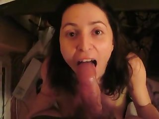 Marta - the exposed wife - perfect blowjob show