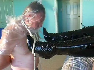 Students Payback, Clip 1 Bondage Stamping out Breathplay