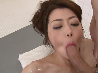 Japanese wed is intrigued about a possible facial in the end
