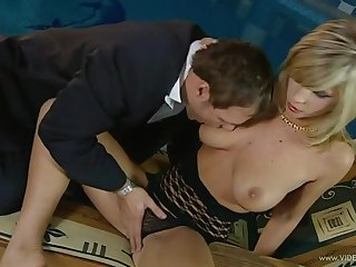 Lustful blonde pornstar with natural tits loves that load for shit doggystyle anytime for burnish apply day