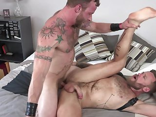Gays fuck in paradoxical hardcore after a long time posing vulnerable remain cam