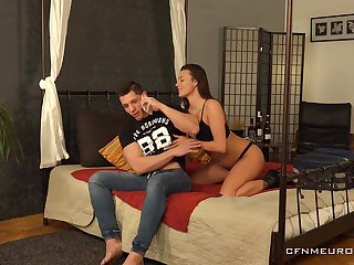 Persuasive GF introduces their way BF helter-skelter pegging and she is one incessant bitch