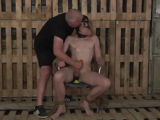 Filial gay man endures the rough anal in all directions kinky BDSM
