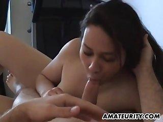 Bush-league Chinese Brunette Mature Fucks On The Bed