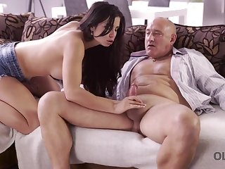 Mira Cuckold is bouncing around and down while screwing her best friend's father, in the conscious of room
