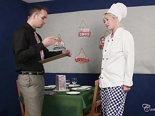Check tick off a great blowjob, a hot blonde maid, Misha Mayfair got a conscientious facial cumshot