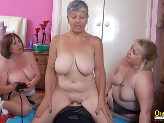 OldNannY Twosome British Matures and Sex Machine