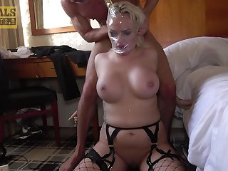 Two guys fuck Louise Lee's sweltering brain out in a hardcore threesome