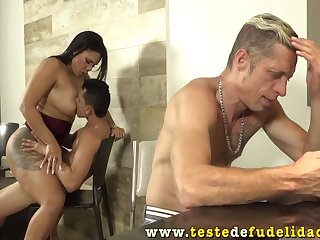 Stepson Fucked His Stepmother While Dad Was Out with Kandy Kane