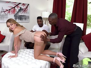 Get hitched gets blacked down and made to swallow rivers of cum