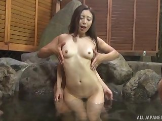 Skinny Asian girl enjoys getting fucked in the public synthesize