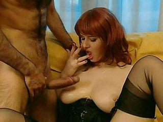 Vintage anal hardcore back classic pornstar Jane darling - cum on tits