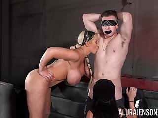 Amateur dude fucks both MILFs Alura Jenson and Megan Maiden